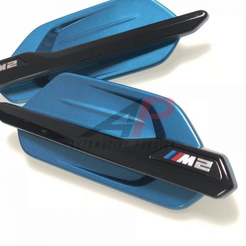 BMW M2 F87 M PERFORMANCE SIDE GRILLES LONG BEACH BLUE