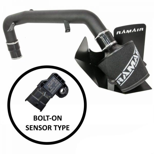 RAMAIR – Ford Focus ST 250 mk3 2.0T upto 2014 – Ramair Air Filter Heat Shield Crosover Hard Pipe Induction Kit