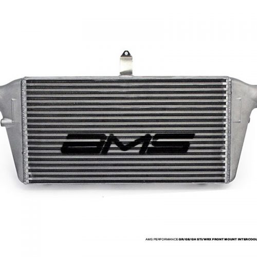 AMS 08-14 STI/WRX Front Mount Intercooler (FMIC Only) – Intecooler only WITH LOGO