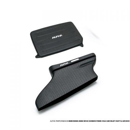 Alpha Performance Mercedes-Benz 2.0L M133 AMG Carbon Fiber Cold Air Inlet Duct & Air Box Lid