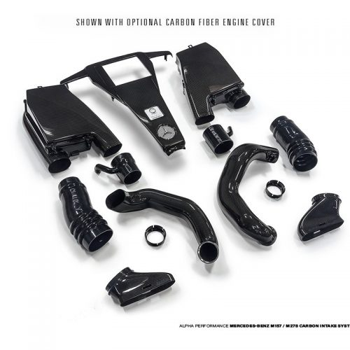 ALPHA Performance 5.5L Biturbo Carbon Fiber Induction Kit *Cover Not Included* (For CLS63 And E63 AMG)