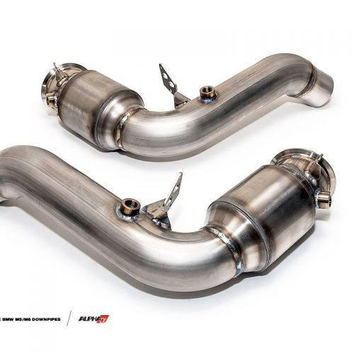 Alpha Performance BMW M5/M6 Downpipes 3″ Downpipes with Cat. Converters