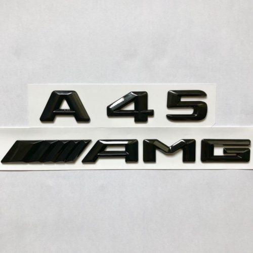 MERCEDES BENZ A45/AMG BADGE SET MATTE/GLOSS BLACK