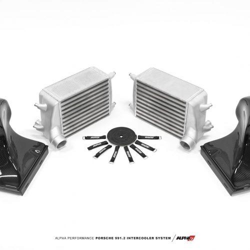 Alpha Performance Porsche 991.2 Carrera Intercooler System With Carbon Fiber Shrouds