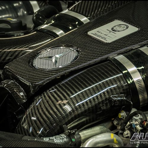 ALPHA Performance 5.5L Biturbo Carbon Fiber Engine Cover For Use With Induction Kit