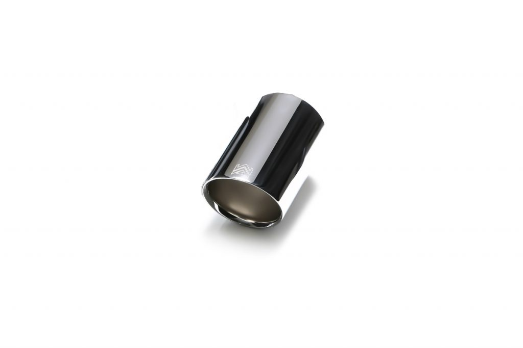 Armytrix – Stainless Steel Single chrome silver spare replacement tip 1×89 mm for BMW 1 SERIES F20 M135I