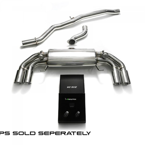Armytrix – Stainless Steel Front pipe + Mid pipe + Valvetronic muffler + Wireless remote control kit for AUDI S1 8X 20 TFSI HATCHBACK