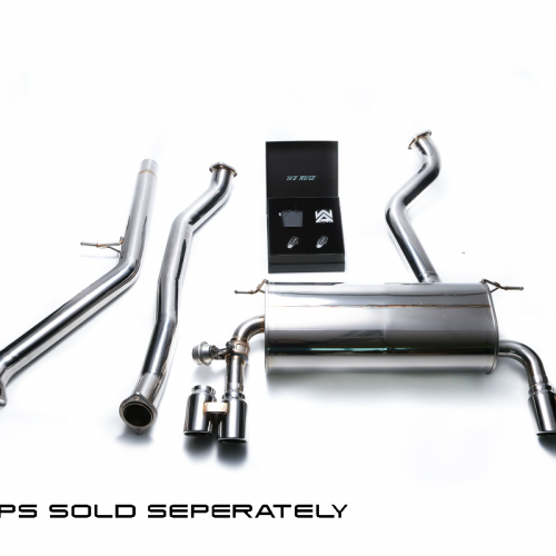 Armytrix – Stainless Steel Front pipe + Mid pipe + Valvetronic mufflers + Wireless remote control kit for BMW 3 SERIES F34 320I