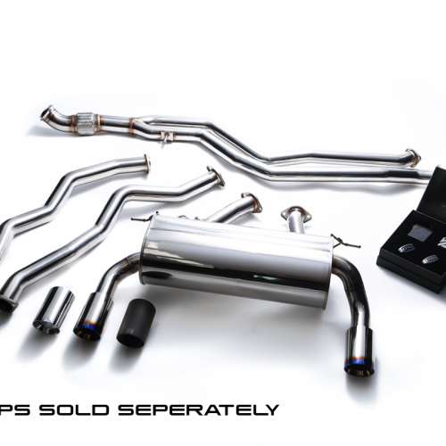 Armytrix – Stainless Steel Front pipe + Mid pipe (L and R) + Valvetronic mufflers + Wireless remote control kit for BMW 3 SERIES F30 335I