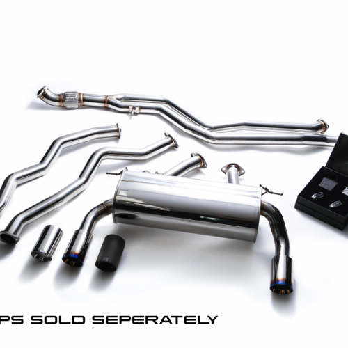Armytrix – Stainless Steel Front pipe + Mid pipe (L and R) + Valvetronic mufflers + Wireless remote control kit for BMW 3 SERIES F34 335I