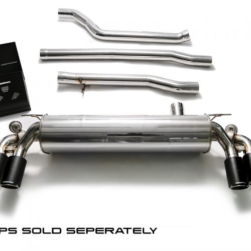 Armytrix – Stainless Steel Front pipe + Mid pipe + Valvetronic mufflers + Wireless remote control kits for BMW 5 SERIES G30 540I