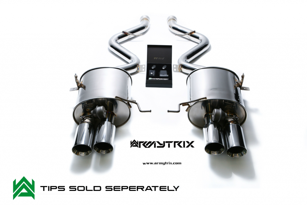 Armytrix – Stainless Steel Valvetronic mufflers (L and R) + Wireless remote control kit for BMW 3 SERIES E92 M3