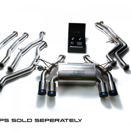 Armytrix – Stainless Steel De-drone Front pipe + Mid pipe sec 1 (L and R) + Mid pipe sec 2 (L and R) + Valvetronic mufflers + Wireless remote control kit for BMW 3 SERIES F80 M3