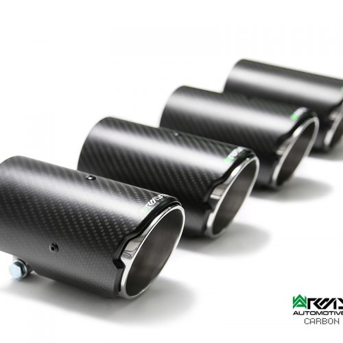 Armytrix – Stainless Steel Quad Carbon tips (4X89mm) for VW GOLF MK7 20 TSI R