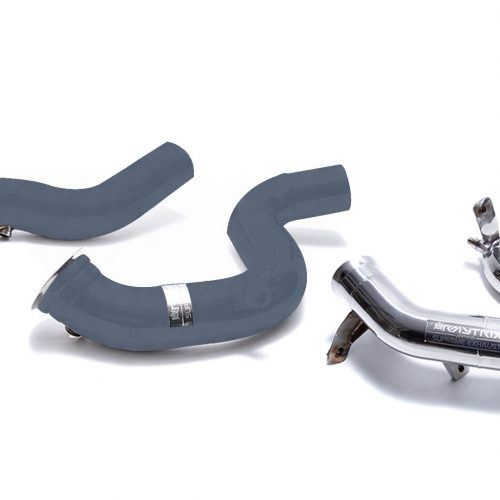 Armytrix – Stainless Steel Ceramic coated Decatted downpipe with cat simulator + Secondary downpipe for MERCEDES-BENZ E-CLASS S213 E63 AMG