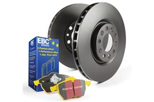 EBC Brakes Pad And Disc Kit (X2 Pads + X2 Discs) To Fit Front Mercedes A/CLA/GLA45 AMG W176