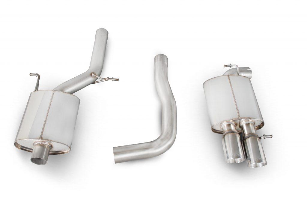 Scorpion Exhausts Audi A4 B8 2.0 TFSi 2wd Manual 2008 2011 Resonated cat-back system – Daytona (twin) Tips