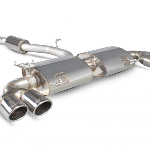 Scorpion Exhausts Audi S1 2.0 TFSi Quattro 2014 2018 Resonated cat-back system with electronic valves – Monaco (quad) Tips
