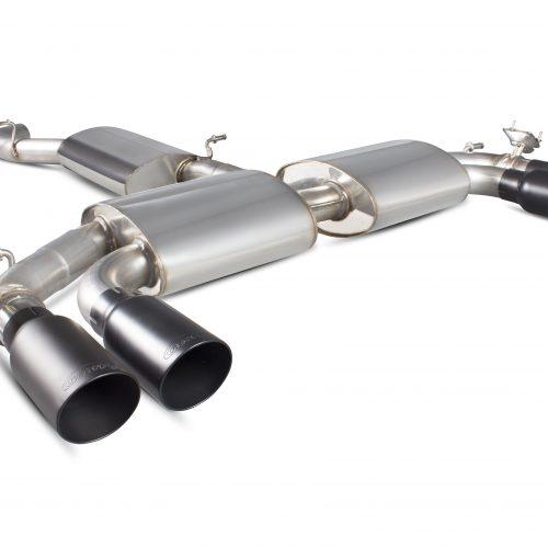 Scorpion Exhausts Audi S3 2.0T 8V 3 Door & Sportback 2013 2016 Resonated cat-back system with electronic valves – Daytona Ceramic Tips