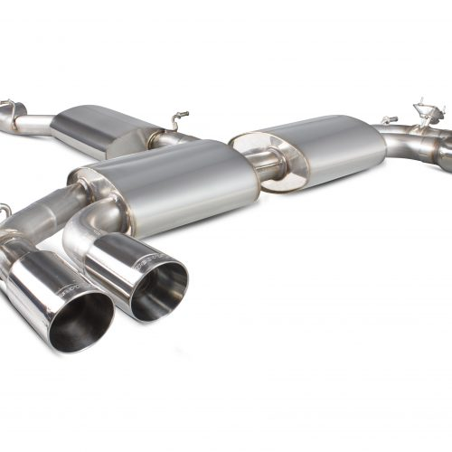 Scorpion Exhausts Audi S3 2.0T 8V Saloon 2013 2016 Resonated cat-back system with electronic valves –  Daytona Tips