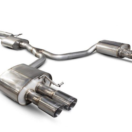 Scorpion Exhausts Audi A5 B8 2.0 TFSI 2012 2016 Resonated cat-back system – Daytona (quad) Tips