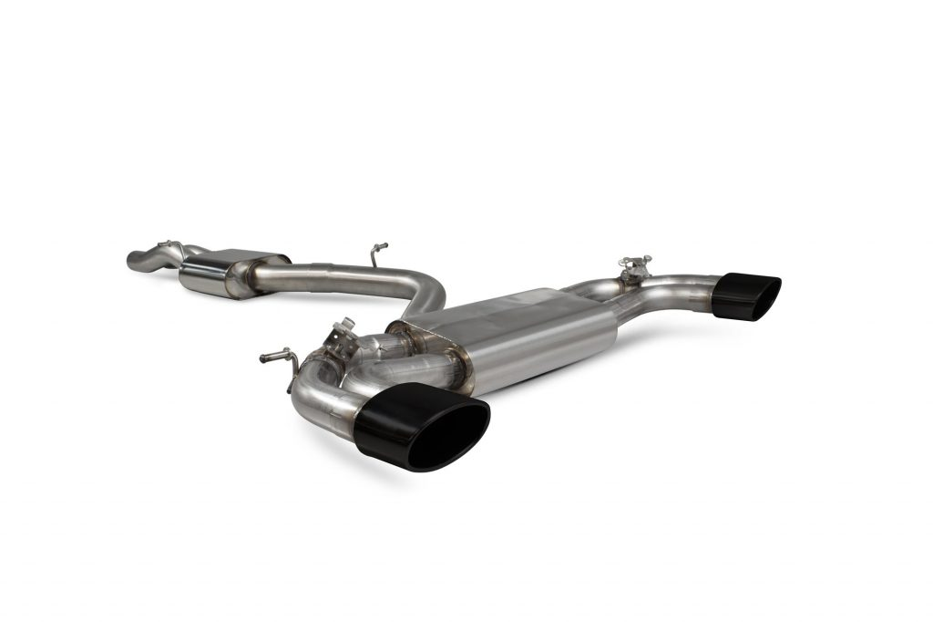 Scorpion Exhausts Audi RS3 8V Facelift 2017 2020 Resonated cat-back system with no valves – EVO Ceramic Tips