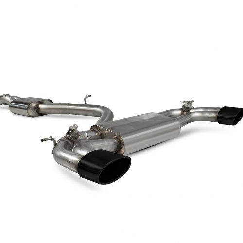 Scorpion Exhausts Audi RS3 Saloon 8V MQB 2017 2020 Resonated cat-back system with no valves – EVO Ceramic Tips