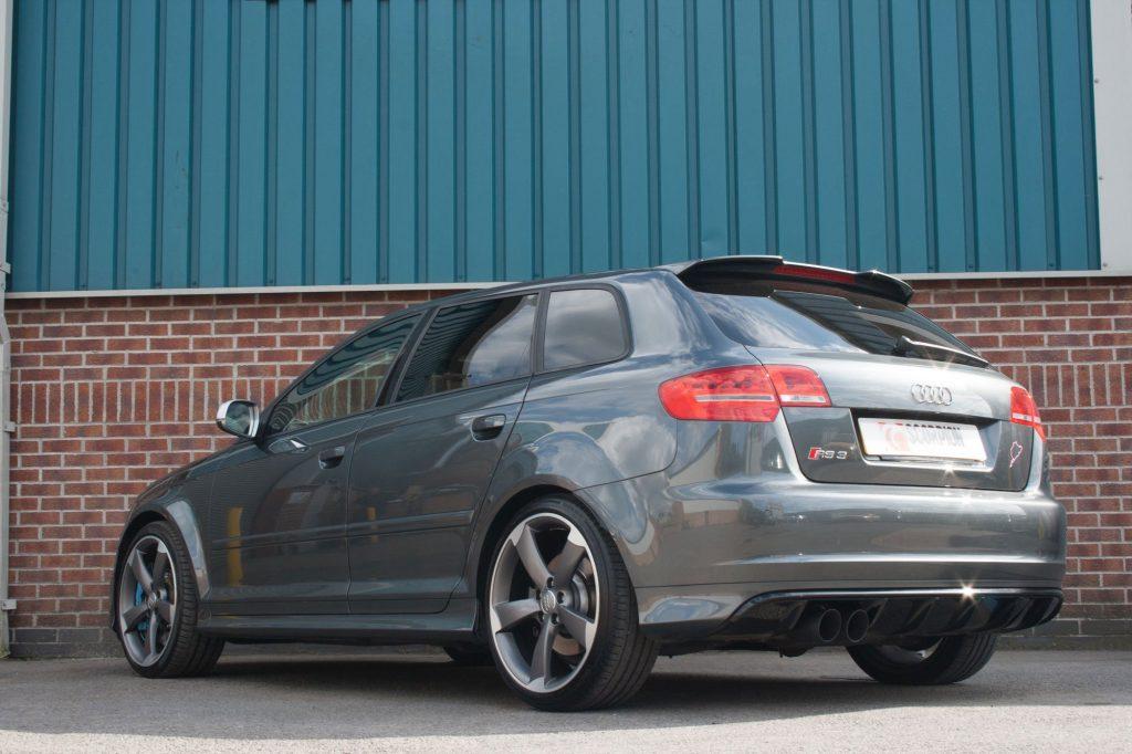 Scorpion Exhausts Audi RS3 8P 2011 2012 Non-resonated secondary cat-back system – Daytona Ceramic Tips