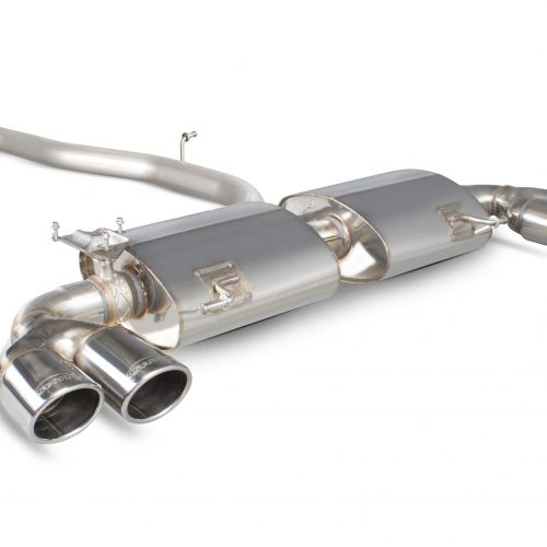 Scorpion Exhausts Audi S1 2.0 TFSi Quattro 2014 2018 Non-res cat-back system with electronic valves – Monaco (quad) Tips