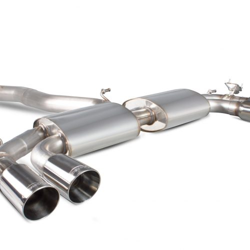 Scorpion Exhausts Audi S3 2.0T 8V Saloon 2013 2016 Non-res cat-back system with electronic valves -Daytona Tips