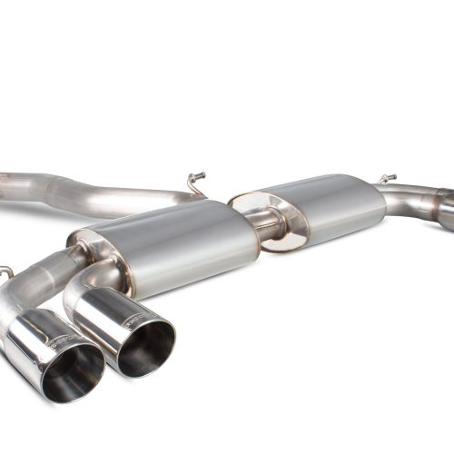 Scorpion Exhausts Audi S3 2.0T 8V Saloon 2013 2016 Non-resonated cat-back system with no valves – Daytona Tips
