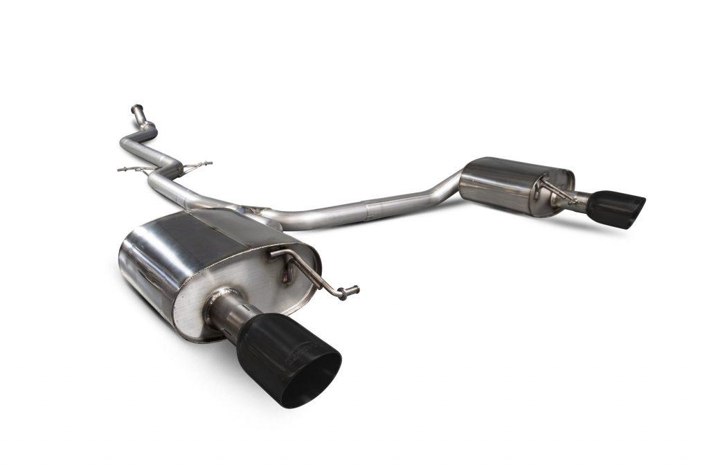 Scorpion Exhausts Audi A5 B8 2.0 TFSI 2012 2016 Non-resonated cat-back system – Daytona (twin) Ceramic Tips