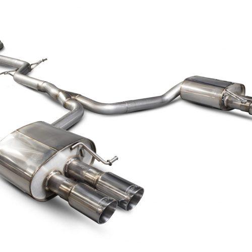 Scorpion Exhausts Audi A5 B8 2.0 TFSI 2012 2016 Non-resonated cat-back system – Daytona (quad) Tips