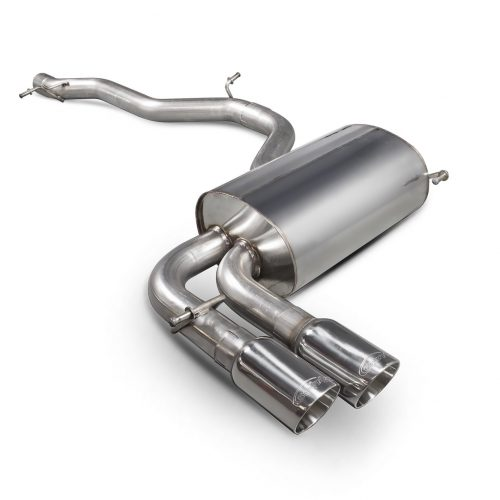 Scorpion Exhausts Audi S3 8P 2006 2012 Non-resonated cat-back system – Daytona (twin) Tips