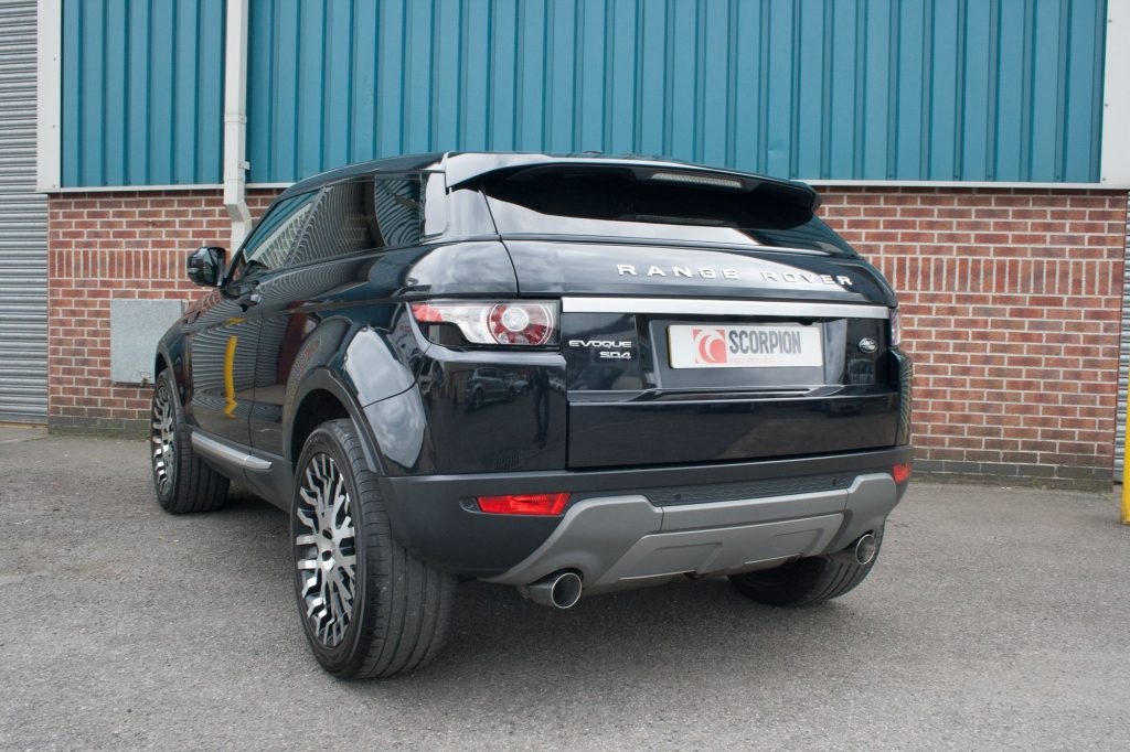 Scorpion Exhausts Land Rover Range Rover Evoque 5 door & Coupe TD4 & SD4 Pure & Prestige Dynamic 4WD only  2011 2015 DPF-back system – Daytona Tips