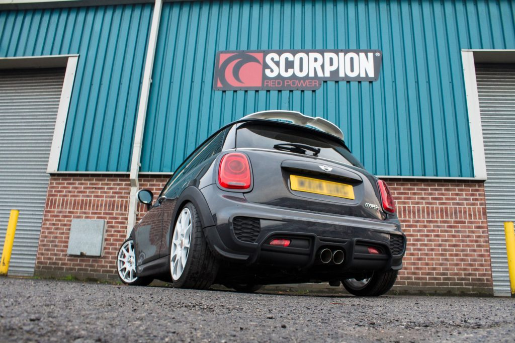 Scorpion Exhausts Mini Cooper S F56 3 Door Non GPF Model Only 2014 2018 Resonated cat-back system – Daytona Tips