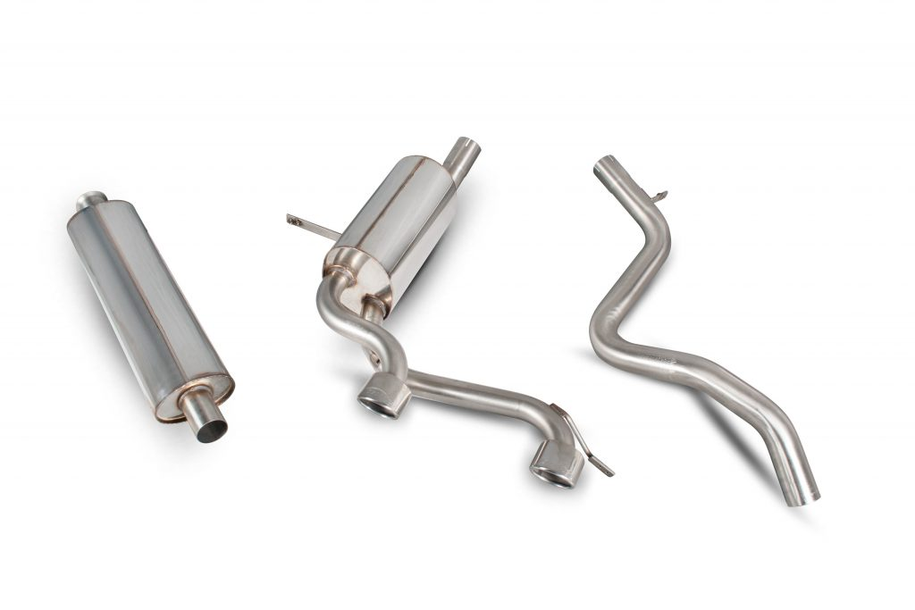 Scorpion Exhausts Renault Megane RS225  2004 2009 Resonated half system – Monaco (twin) Tips