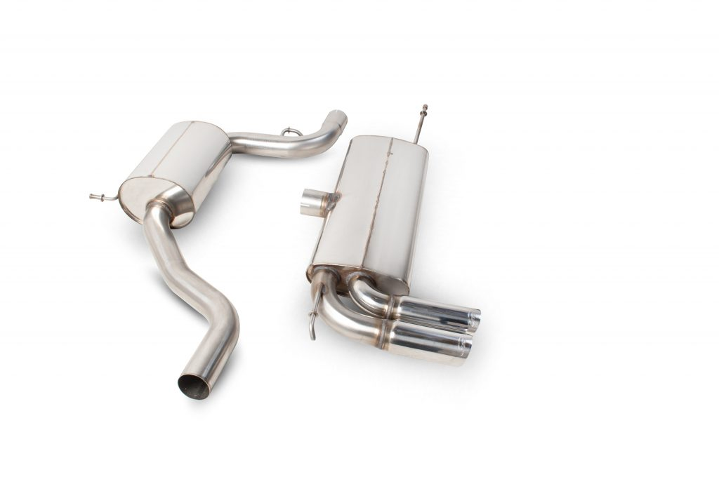 Scorpion Exhausts Seat Leon 1.4 Tsi 1.6i 2.0 Fsi 1.9 Tdi (105bhp) 2.0 Tdi (140 & 170bhp)  2006 2011 Resonated cat-back system – Daytona (twin) Tips