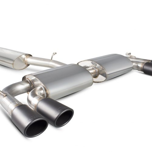 Scorpion Exhausts Volkswagen Golf MK7 R  2014 2016 Resonated cat-back system with no valves – Monacao (quad) Ceramic Tips