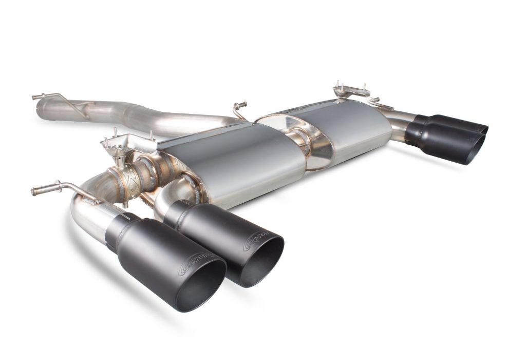 Scorpion Exhausts Volkswagen Golf MK7 R 2014 2016 Non-res cat-back system with electronic valves – Daytona Ceramic Tips
