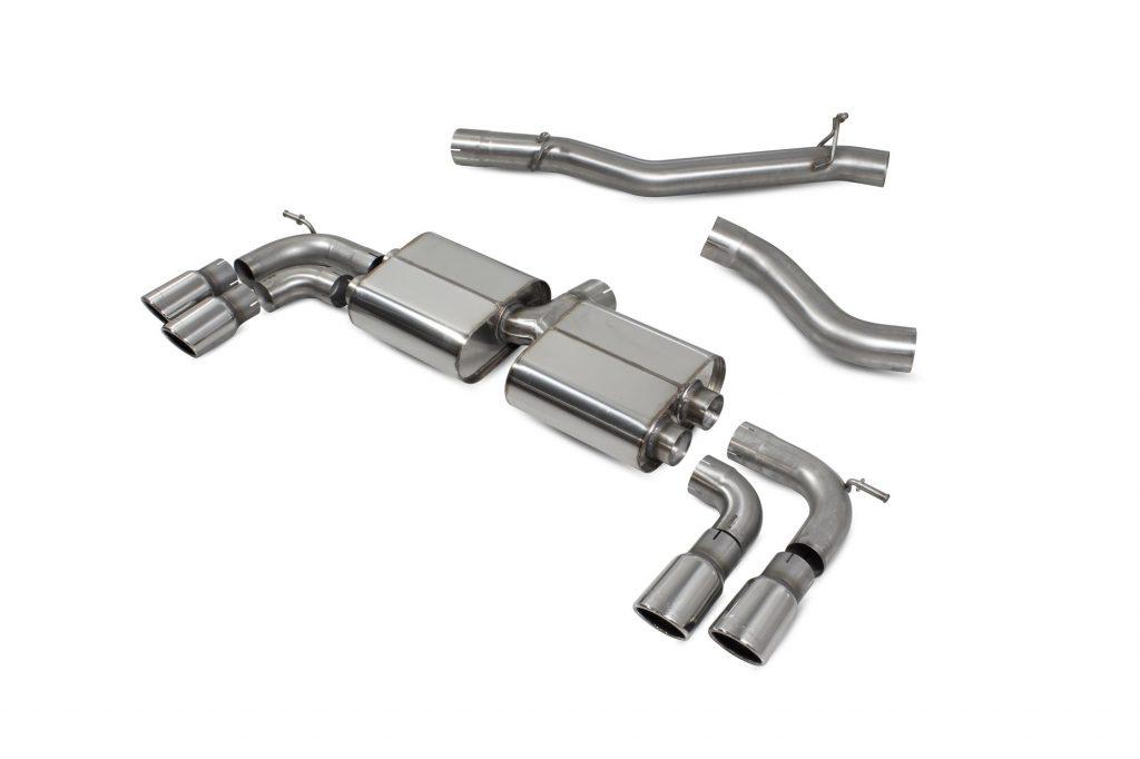 Scorpion Exhausts Volkswagen GolF R MK7.5 Facelift GPF & Non GPF Models 2017 2020 Non-res cat/gpf back system – Monaco (quad) Tips