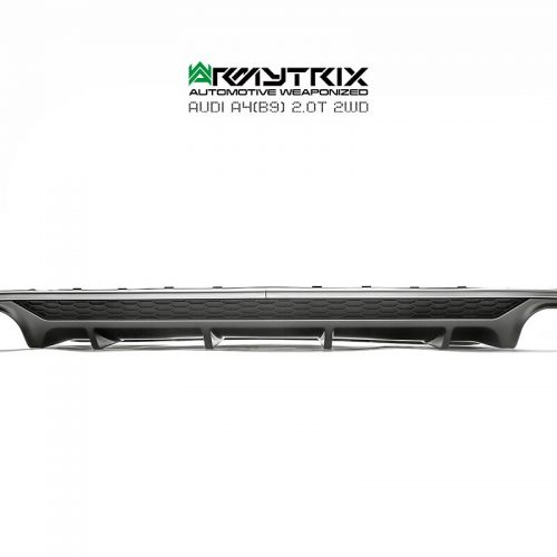 Armytrix – Stainless Steel S4 style Rear Quad diffuser (only fit to non-S-line rear bumper) for AUDI A4 B9 20 TFSI AVANT