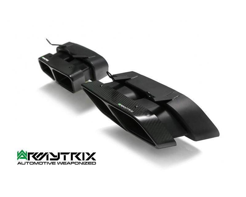 Armytrix – Titanium Dual carbon tips for AUDI R8 4S 52 FSI COUPE