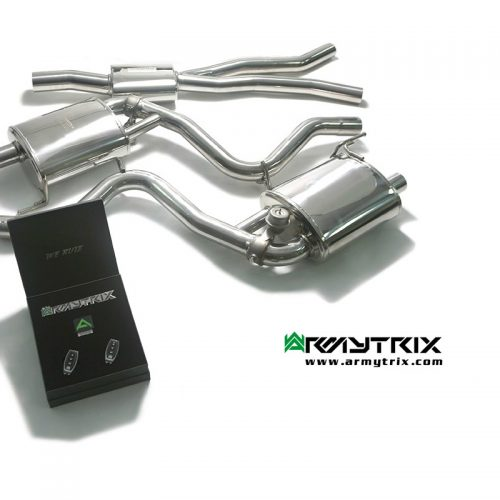 Armytrix – Stainless Steel Mid Y-pipe + Valvetronic Muffler (L and R) + Wireless remote control kit for FORD MUSTANG ECOBOOST MK6 23L CONVERTIBLE