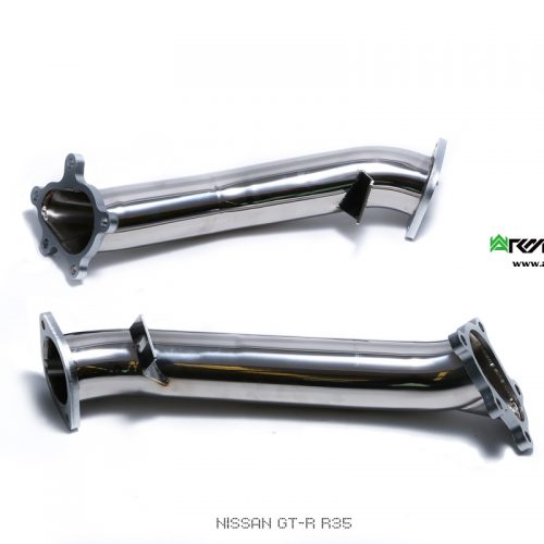 Armytrix – Stainless Steel High-flow Decatted Downpipes (L+R) for NISSAN GT-R R35 38L