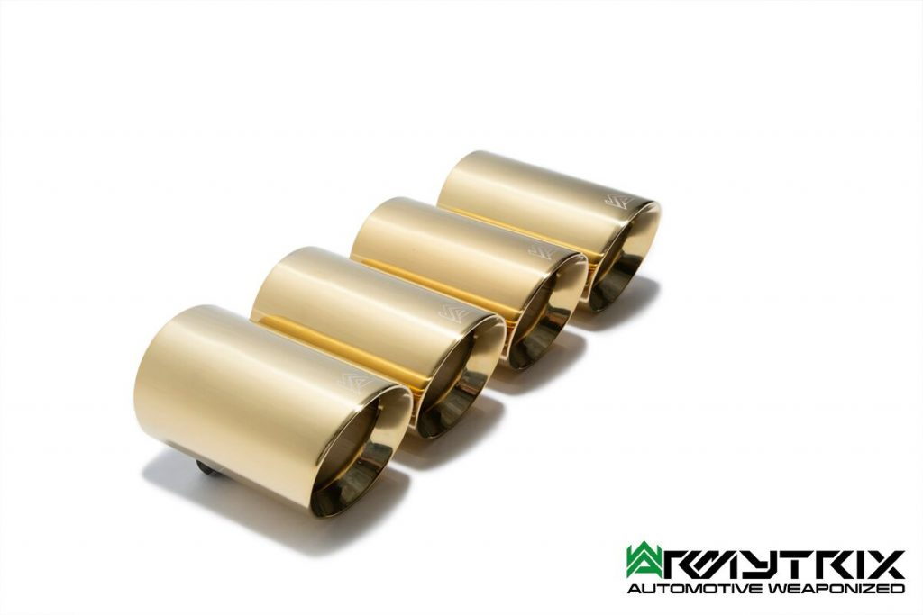 Armytrix – Stainless Steel Quad gold tips (4X89mm) for AUDI TTS 8S 20 TFSI ROADSTER