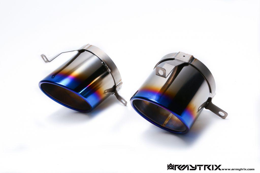 Armytrix – Titanium Dual Titanium blue tips for AUDI R8 42 42 FSI COUPE
