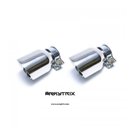Armytrix – Stainless Steel Dual Chrome Silver Tips (2X115mm) for NISSAN 370Z Z34 37L