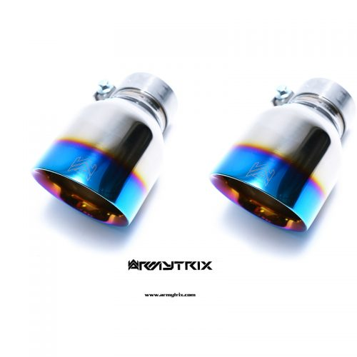 Armytrix – Stainless Steel Dual Blue Coated Tips (2X115mm) for FORD FOCUS MK3 23L RS