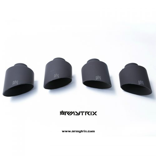 Armytrix – Titanium Quad Titanium Matte Black Tips (4X125mm) for NISSAN GT-R R35 38L